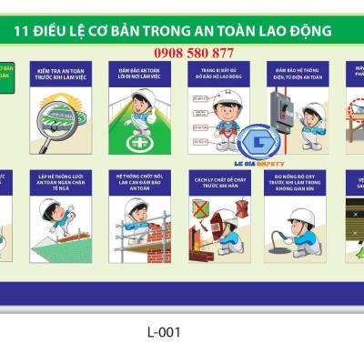 11 Điều lệ cơ bản trong an toàn lao động