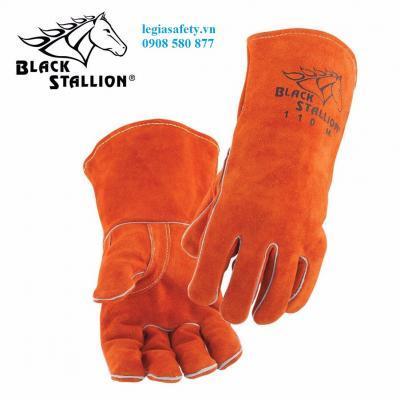 Găng Tay Da Hàn Con Ngựa Black Stallion 112