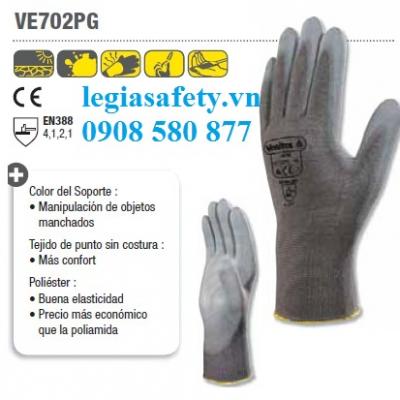 Găng Tay Phủ PU Deltaplus VE702PG