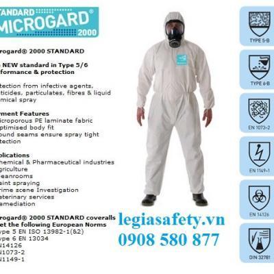 Quần Áo Chống Hóa Chất Microgard 2000 - Standard